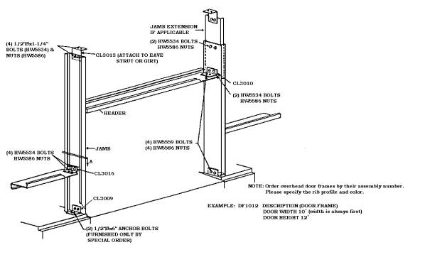 Part # Example: DF1012, DF U2013 Door Frame, 10 U2013 Door Width, 12 U2013 Door Height.